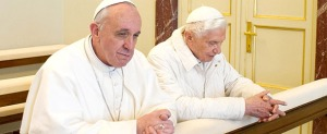 Newly Appointed Pope Francis Visits Pope Emeritus Benedict At Castel Gandolfo