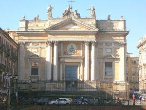 la chiesa di Sant'Agata alla Fornace o di San Biagio, in piazza Stesicoro: La chiesa costruita nel XVIII secolo dopo il tremendo terremoto del 1693
